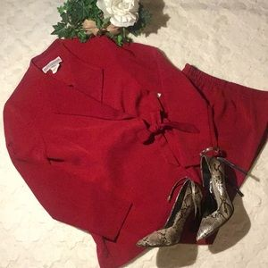 EUC Jessica Howard Maroon 2 Pc Pant Suit, 8